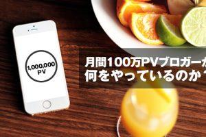 月間100万PVのブロガー